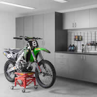 Pewter-Cabinets-Ebony-Star-Workbench-Silverado-Floor-Dirt-Bike-Abbott